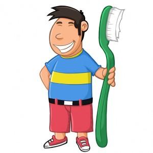 Après chaque repas, pensons à nous brosser les dents