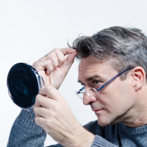 Looking for gray hair